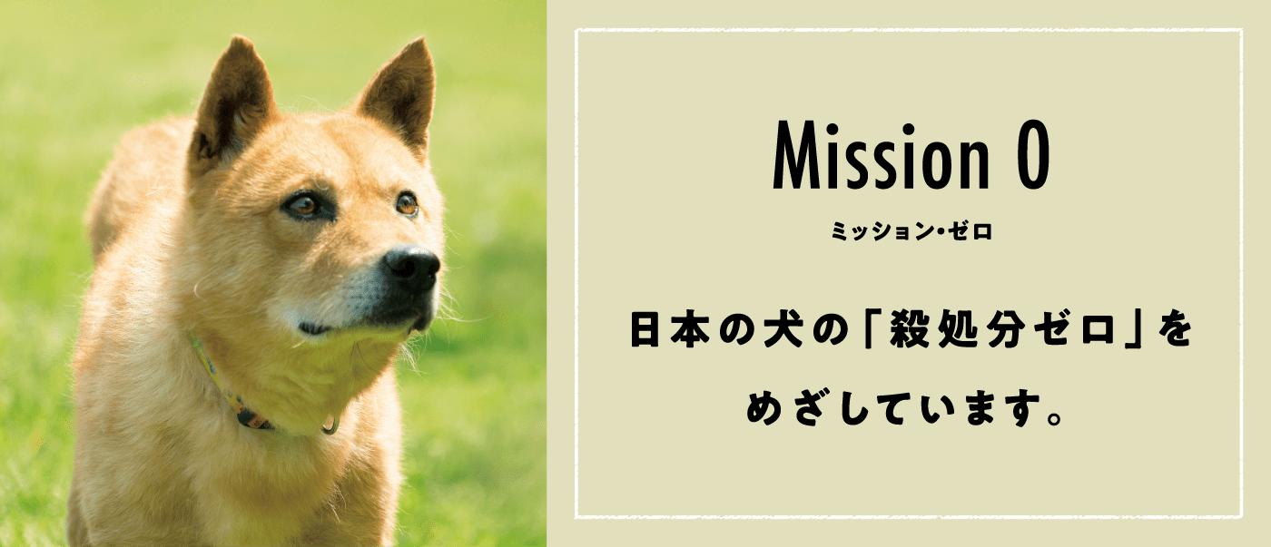 Misson 0 ミッション・ゼロ 日本の犬の「殺処分ゼロ」をめざしています。
